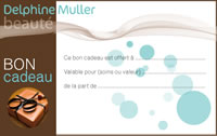 bon cadeau Institut Delphine Muller beauté